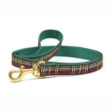 Christmas Sparkle Plaid Dog Leash by Up Country