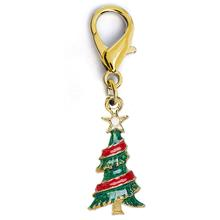 Christmas Tree Dog Collar Charm by Diva Dog - Gold