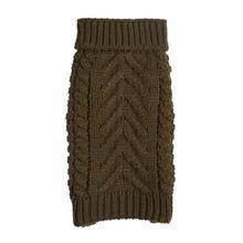 Chunky Turtleneck Dog Sweater - Olive