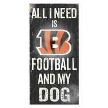 Cincinnati Bengals Football and My Dog Wood Sign