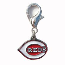 Cincinnati Reds Logo Dog Collar Charm