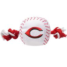 Cincinnati Reds Nylon Plush Baseball Rope Dog Toy
