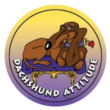 Circle Attitude Magnet Collection - Dachshund