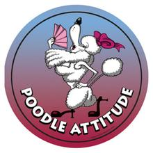 Circle Attitude Magnet Collection - Poodle