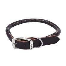Circle T Latigo Leather Round Dog Collar - Brown
