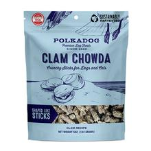 Clam Chowda Crunchy Sticks Pet Treats by Polka Dog
