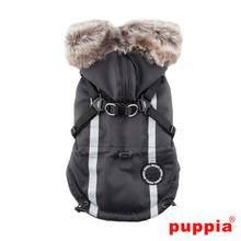 Clark Fleece Dog Vest by Puppia - Black