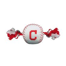 Cleveland Indians Nylon Plush Baseball Rope Dog Toy
