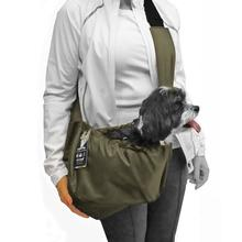 Cloak & Dawggie Easy Walk Sport Pet Sling Carrier For Teacup and Small Dogs - Olive