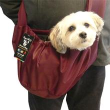 Cloak & Dawggie Easy Walk Sport Pet Sling Carrier For Teacup and Small Dogs - Burgundy