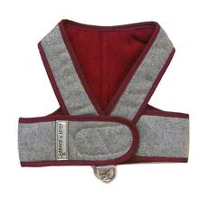 Cloak & Dawggie Flannel Step N Go Dog Harness - Burgundy