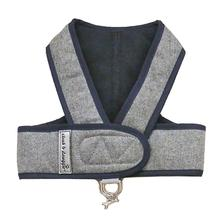Cloak & Dawggie Flannel Step N Go Dog Harness - Navy