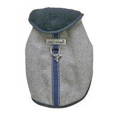 Cloak & Dawggie Flannel Teacup Dog Coat - Navy