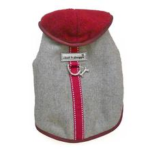 Cloak & Dawggie Flannel Teacup Dog Coat - Burgundy