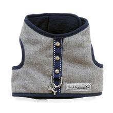 Cloak & Dawggie Flannel Teacup Dog Harness - Navy