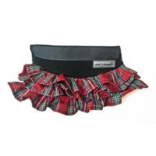 Cloak & Dawggie Holiday Tartan Ruffle Dog Skirt Accessory