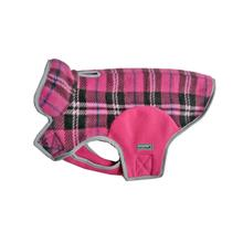 Cloak & Dawggie Precision Fit Fleece Dog Jacket - Pink Plaid