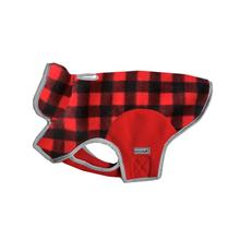 Cloak & Dawggie Precision Fit Fleece Dog Jacket - Red Buffalo