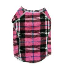 Cloak & Dawggie Stretch Fleece Dog Sweater - Pink Plaid