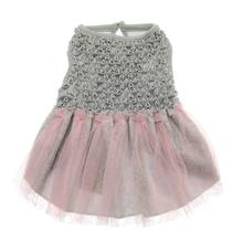 Cloud Nine Hand-Smocked Dog Dress by Oscar Newman