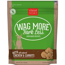 Cloud Star Wag More Bark Less Original Oven-Baked Dog Treats - Chicken & Carrots