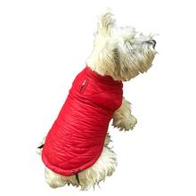 Coco Puffer Diamond Quilted Dog Coat - Real Red