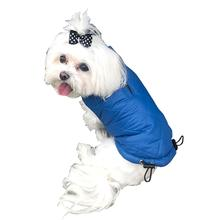 Coco Puffer Diamond Quilted Dog Coat - Cornflower Blue