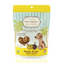 CocoTherapy Pure Hearts Organic Dog Treats - Coconut Banana Brulee
