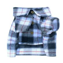 Collegiate Flannel Dog Shirt By Dog Threads