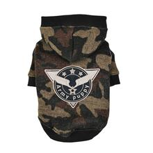 Colonel Hooded Dog Shirt by Puppia - Camo