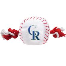 Colorado Rockies Nylon Plush Baseball Rope Dog Toy