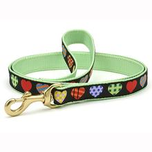 Colorful Hearts Dog Leash by Up Country