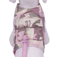 Combat Dog Harness with Leash - Pastel Camo