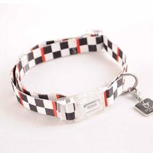 Contempo Dog Collar by Dogo - Black Checkered