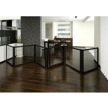 Convertible Elite Dog Gate - 6 Panel - Black