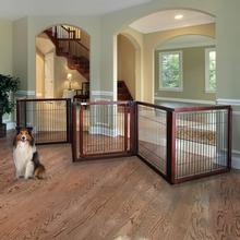 Convertible Elite Dog Gate - 6 Panel - Cherry Brown