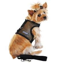 Cool Mesh Dog Harness by Doggie Design - Solid Black