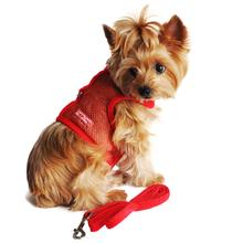 Cool Mesh Dog Harness by Doggie Design - Solid Red