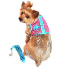 Cool Mesh Dog Harness Under the Sea Collection by Doggie Design - Pink and Blue Flip Flops