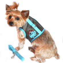 Cool Mesh Dog Harness Under the Sea Collection by Doggie Design - Pirate Octopus Blue and Black