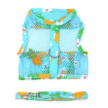 Cool Mesh Dog Harness with Leash by Doggie Design - Pineapple Luau