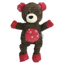 Corduroy Knotted Holiday Dog Toy from FouFou Dog - Bear