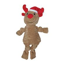 Corduroy Knotted Holiday Dog Toy from FouFou Dog - Reindeer