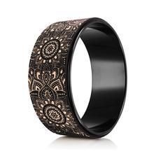 Cork Yoga Wheel - Mandala Black