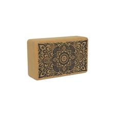 Cork Yoga Block - Mandala Black