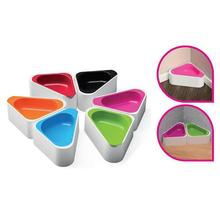 Hing Corner Bowl Non-Slip Dog Bowl With Removable Insert