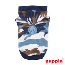 Corporal Hooded Dog Shirt by Puppia - Blue
