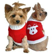 Rudolph Holiday Dog Sweater by Doggie Design - Red