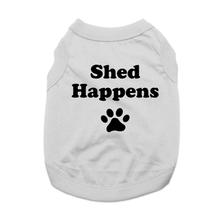 Shed Happens Dog Shirt - Gray