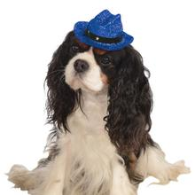 Cowboy Hat Dog Costume - Sparkle Blue